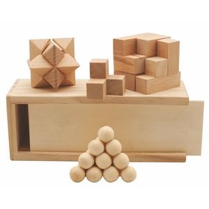 3 in 1 Wooden Puzzle Box Set