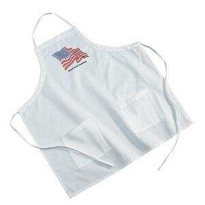 White Poly/Cotton Twill BBQ Apron