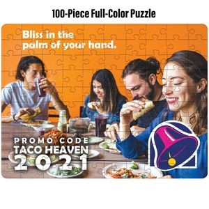 Full-Color Custom 100-Piece Jigsaw Puzzle